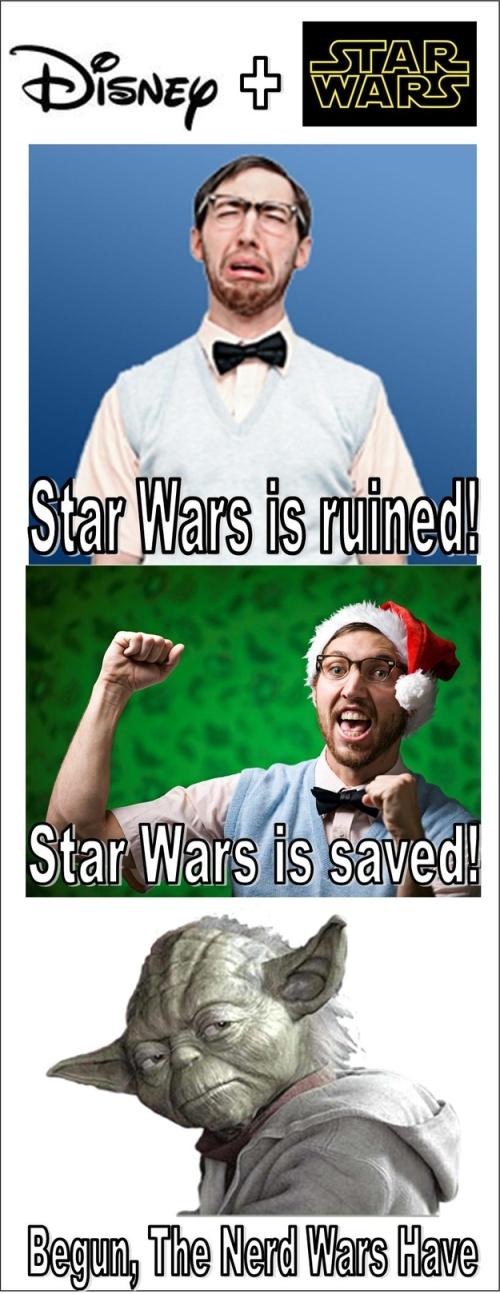 מלחמת הכוכבים ודיסני - מלחמות החנונים